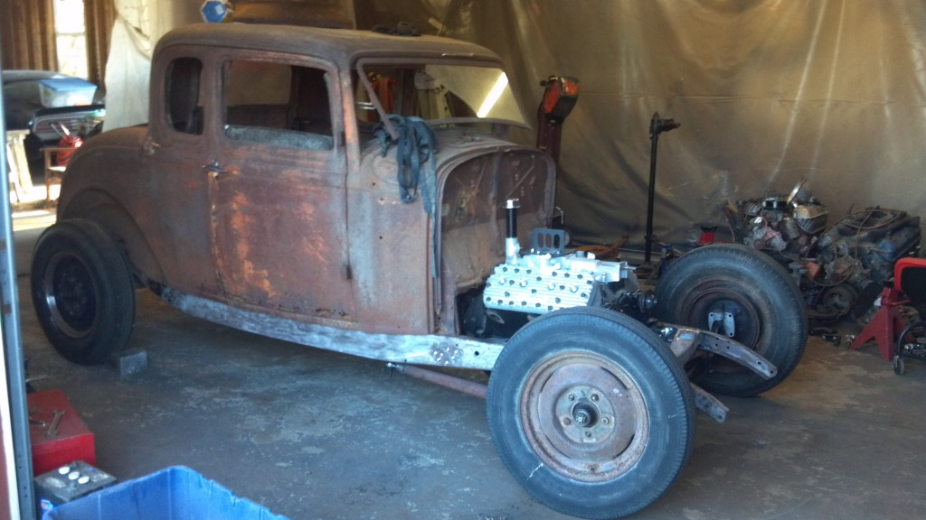 Tims latest project – 1932 Ford 5W Coupe with Flathead | Misfits ...